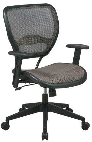 Office Star Space Seating 55-88N15 Latte AirGrid® Seat and Back Deluxe Task Chair - Peazz.com