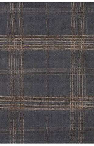 Abacasa 1201-5x8 Broadway Plaid Blue/Tan Area Rug - Peazz.com