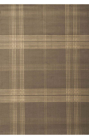 Abacasa 1202-5x8 Broadway Plaid Grey/Ivory Area Rug - Peazz.com