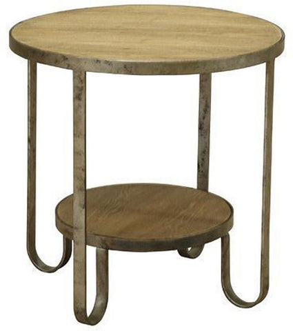 Armen Living LCBALAGN Barstow End Table With Gunmetal Frame - Peazz.com