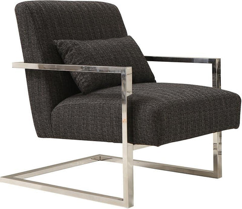 Armen Living LCSKCHCH Skyline Accent Chair In Charcoal Fabric - Peazz.com