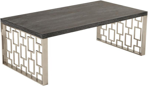 Armen Living LCSKCOBLMT Skyline Coffee Table - Peazz.com