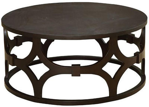 Armen Living LCTUCO Tuxedo Round Coffee Table - Peazz.com