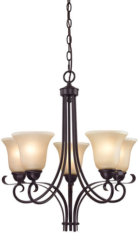 Cornerstone 1005CH/10 Brighton 5 Light Chandelier In Oil Rubbed Bronze - Peazz.com