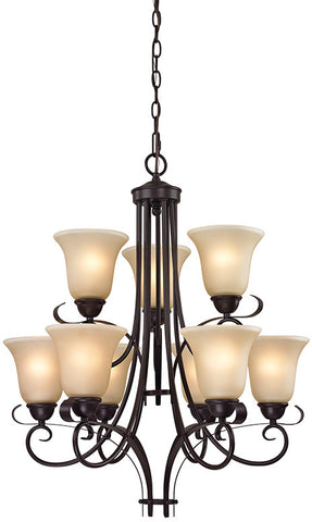 Cornerstone 1009CH/10 Brighton 9 Light Chandelier In Oil Rubbed Bronze - Peazz.com