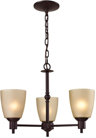 Cornerstone 1303CH/10 Jackson 3 Light Chandelier In Oil Rubbed Bronze - Peazz.com