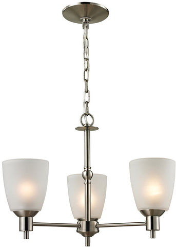 Cornerstone 1303CH/20 Jackson 3 Light Chandelier In Brushed Nickel - Peazz.com
