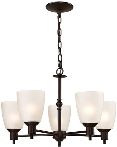 Cornerstone 1355CH/10 Jackson 5 Light Chandelier In Oil Rubbed Bronze - Peazz.com