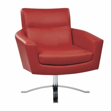 Ave Six NVA51-U9 Nova Chair With Red Faux Leather By Ave 6 - Peazz.com