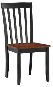 Boraam 21031 Bloomington Dining Chair, set of 2, Black/Cherry - Peazz.com