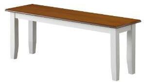 Boraam 22032 Bloomington Bench, White/Honey Oak - Peazz.com