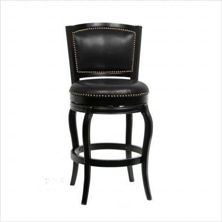 "Boraam 51129 29"" Harris Memory Swivel Stool, Cherry - BarstoolDirect.com"