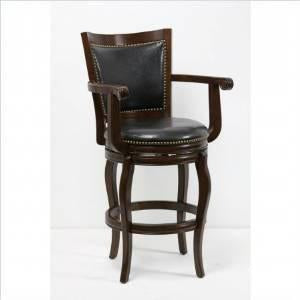 "Boraam 52229 29"" Jones Memory Swivel Stool, Cappuccino - BarstoolDirect.com"