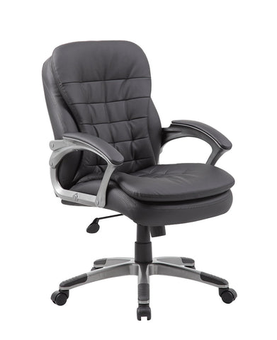 Boss Office Products B9336 Boss Executive Mid Back Pillow Top Chair - Peazz.com