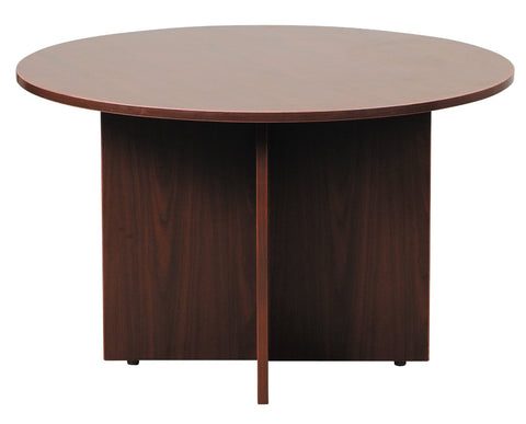 "Boss Office Products N123-M Boss 47"" Round Table, Mahogany - Peazz.com"