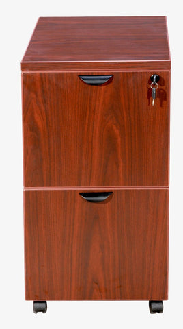Boss Office Products N149-C Boss Mobile Pedestal, File/File Cherry 16*22*29.5H - Peazz.com
