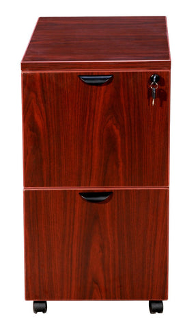 Boss Office Products N149-M Boss Mobile Pedestal, File/File Mahogany 16*22*29.5H - Peazz.com