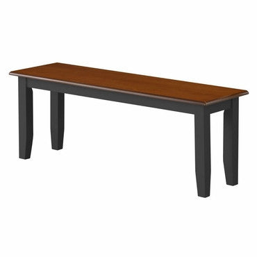 Boraam 21032 Bloomington Bench, Black/Cherry - Peazz.com