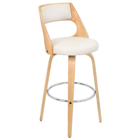 LumiSource BS-JY-CCN NA+CR Cecina Bar Stool - BarstoolDirect.com