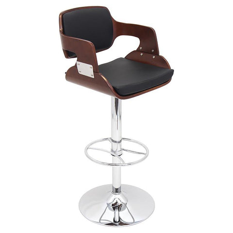 LumiSource BS-JY-FR CH+BK Fiore Bar Stool - BarstoolDirect.com