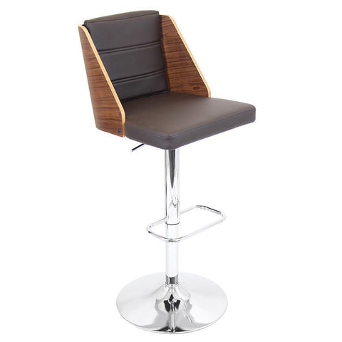 LumiSource BS-JY-GAL WL+BN Galanti Bar Stool - BarstoolDirect.com