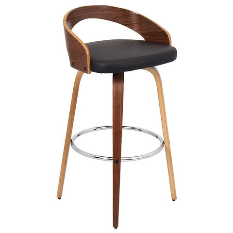 LumiSource BS-JY-GRT WL+BN Grotto Bar Stool - BarstoolDirect.com