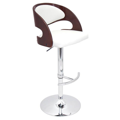LumiSource BS-JY-PN CH+W Pino Bar Stool - BarstoolDirect.com