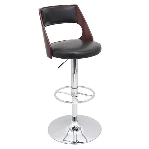 LumiSource BS-JY-PRS CH+BN Presta Bar Stool - BarstoolDirect.com