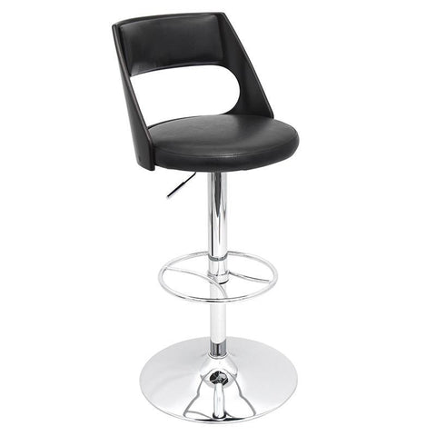 LumiSource BS-JY-PRS WG+BK Presta Bar Stool - BarstoolDirect.com