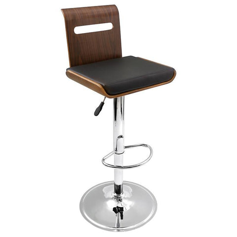 LumiSource BS-JY-VIERA WAL Viera Bar Stool - BarstoolDirect.com