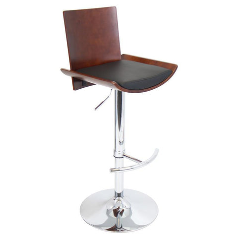 LumiSource BS-JY-VIT CH+BK Vittorio Bar Stool - BarstoolDirect.com