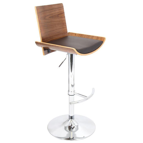 LumiSource BS-JY-VIT WL+BN Vittorio Bar Stool - BarstoolDirect.com