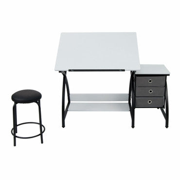 Studio Designs 13326 Comet Center with Stool / Black / White - Peazz.com