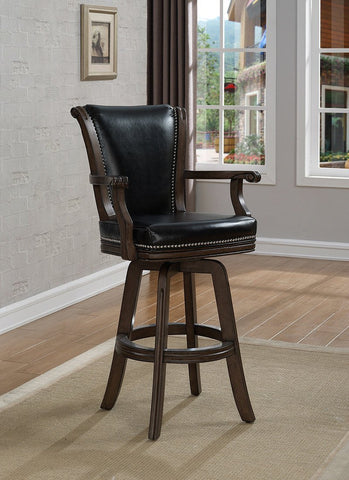 American Heritage Billiard 100614PW Napoli Bar Height Stool in Pewter - BarstoolDirect.com - 1