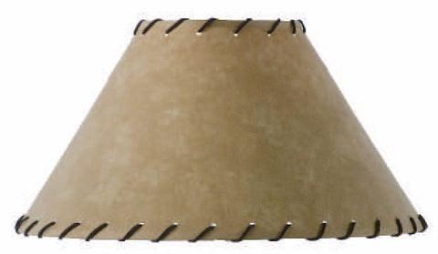 Stone County Ironworks 900-021 Parchment Table Lamp Shade w/ Leather Trim (6x18x11) - Peazz.com