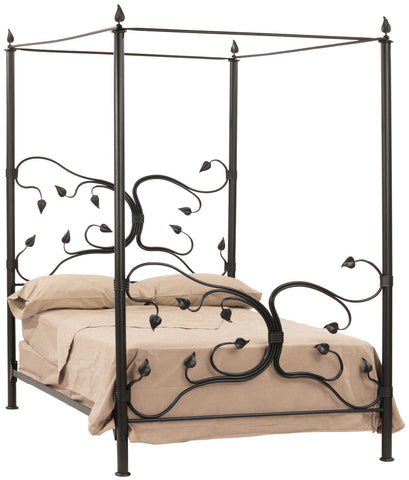 Stone County Ironworks 900-796 Eden Isle Canopy Queen Bed - Peazz.com