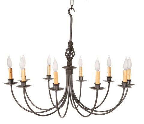 Stone County Ironworks 901-547 Basketweave 10 Arm Chandelier - Peazz.com