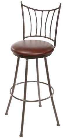"Stone County Ironworks 902-766-LPC Ranch Barstool 30"" (with swivel) - BarstoolDirect.com"