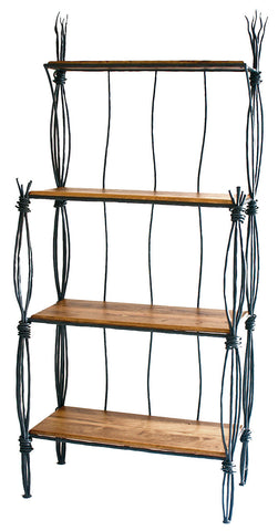 Stone County Ironworks 903-236-DPN Rush Iron Bakers Rack 4 Tier - Peazz.com