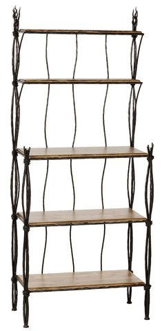 Stone County Ironworks 903-237-DPN Rush Iron Bakers Rack 5 Tier - Peazz.com