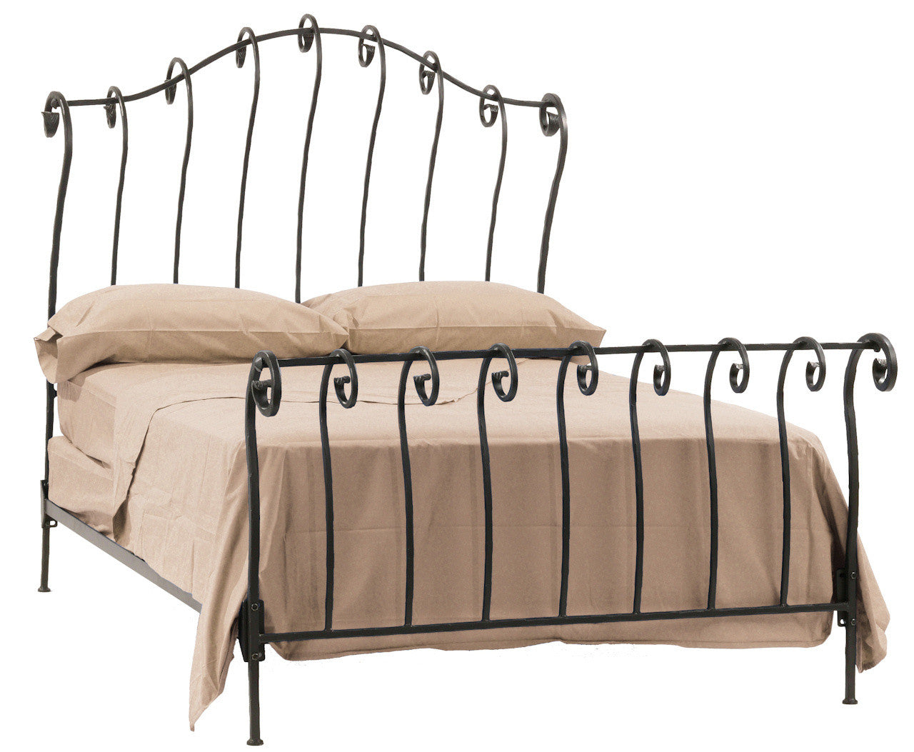 Stratford Sleigh California King Bed - Stone County Bed Image
