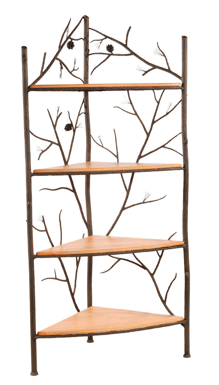 Stone County Iron Corner Rack Hand Rubbed Bronze Pine