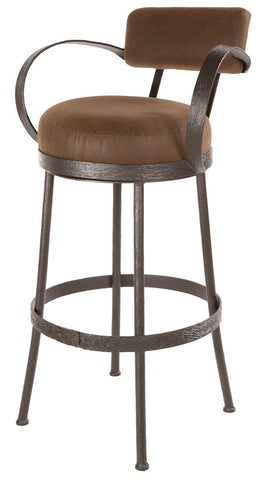"Stone County Ironworks 904-194-FBR Cedarvale Barstool 25"" (with swivel) - BarstoolDirect.com"