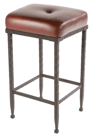 "Stone County Ironworks 904-196-LPC Forest Hill Barstool 25"" (no back) - BarstoolDirect.com"