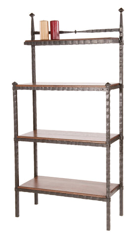 Stone County Ironworks 904-239-CHE Forest Hill Iron Bakers Rack - Peazz.com