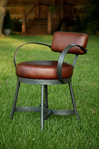 Stone County Ironworks 904-458-LPC Cedarvale Side Chair - Peazz.com