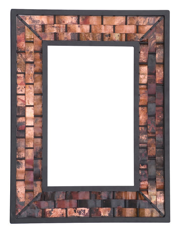 Stone County Ironworks 938-010-SML-COP Rushton Iron Wall Mirror small copper - Peazz.com