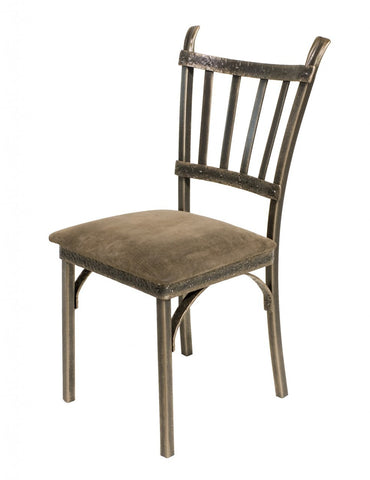 Stone County Ironworks 952-063-FDB Montage Side Chair (bronze finish w/ gold accent) - Peazz.com