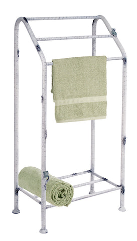 Stone County Ironworks 958-032 Whisper Creek Towel Stand (ivory bark) - Peazz.com