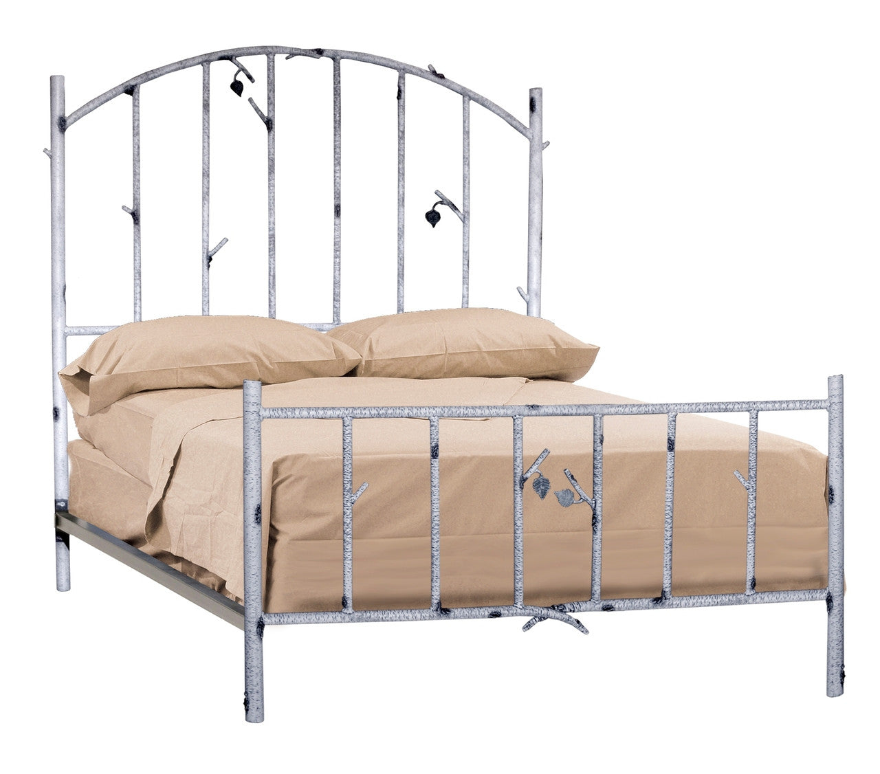 Stone County Ironworks 958-058 Whisper Creek Queen Bed (ivory bark)